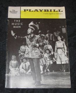 Playbill The Music Man Bert Parks Broadway Theatre 1961
