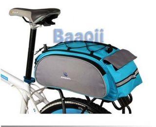 Multi Function Bicycle Bag Blue Bike Rear Seat Carrier Basket Rack