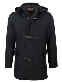 Mens Ben Sherman Wadded Melton Duffle Hybrid Jacket Coat Detachable
