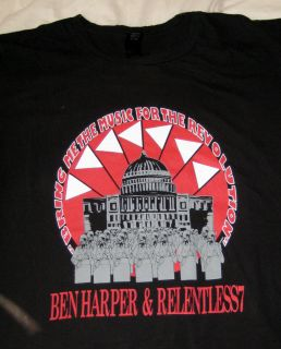 Ben Harper Relentless 7 T Shirt S S Black L Alternative Vintage Music