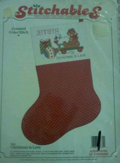 1987 DIMENSIONS COUNTED CROSS STITCH CHRISTMAS STOCKING KIT CHRISTMAS