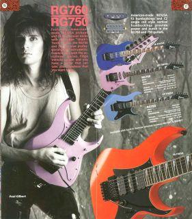 Vintage 80s Ibanez RG 760 USA Custom Guitar All Originl