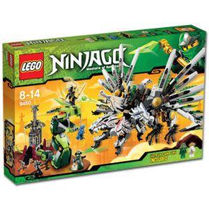 RARE New Lego Ninjago 9450 Set Epic Dragon Battle Green Ninja