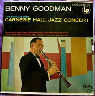 Benny Goodman Carnegie Hall Jazz Concert 2 LP Set