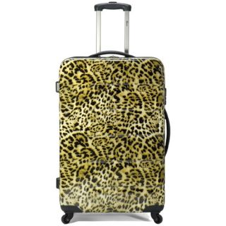 Benzi 3 Piece Hardsided Spinner Luggage Set Leopard Print BZ3802