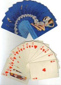 deck vintage elvgren pin up girl playing cards
