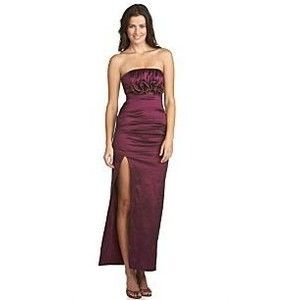 Betsy Adam Womens Strapless Taffeta Gown Sz 6 NWT