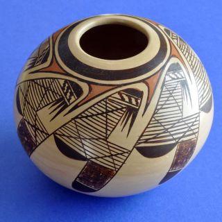 Native American Hopi Hand Coiled Pot by Chereen Nampeyo