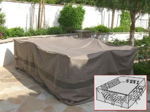Patio Garden Outdoor Furniture Cover Extra Wide Rectangular Table