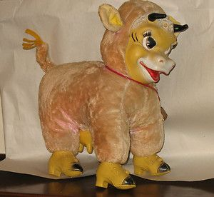 Vintage BIJOU TOY Mambo Moo Dairy COW or BULL Large Plush Rubber face