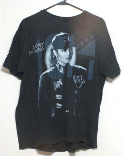 Janet Jackson 1990 Tour T Shirt Size XL