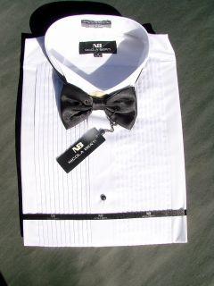 Nicola Berti Tux Tuxedo Shirt Bow Tie 17 32 33 Large