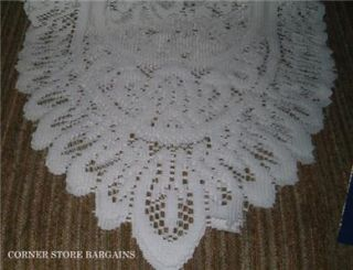 Lace Dresser Scarf White Table Scarf Runner 54 Long New