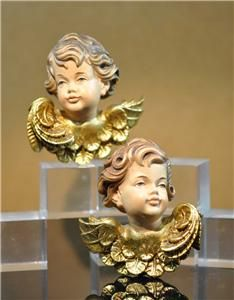Anri Italy Carved Wood Hanging Angel Cherub Putti Head Ulrich Bernardi