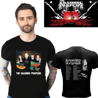 SMASHING PUMPKINS TOUR 2012 TWO SIDE BLACK TEE SHIRT S,M,L,XL,2XL SIZE