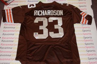 Trent Richardson Signed Cleveland Browns Nike Jersey 2012 BCS Champs