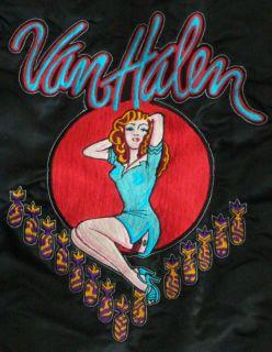 VAN HALEN Rare Early SATIN TOUR JACKET #2 Presented to Warner Bros