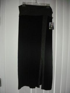 Valerie Bertinelli Black Gray Long Strapless Maxi Dress Beach Cover Up