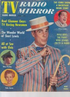 Mirror Magazine Elvis Bert Parks Perry Como Gossip Movies 1950s