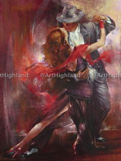 New Modern Vintage Portrait Oil Paintings Painting Canvas Lover Tango