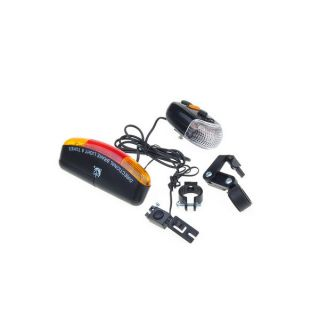 Cycling Bicycle Bike Turn Signal Brake Tail 7 LED 8 Tune Electric Horn