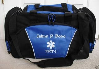 personalized ambulance emt ems paramedic duffel bag