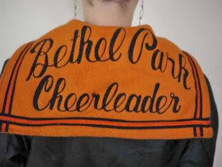 Vtg 50s Butwin Bethel Park Varsity Suzy Cheerleader Letterman Parka