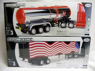 Tanker and Reefer TESTORS BIG RIGS TRAILER SERIES MODEL KITS New In