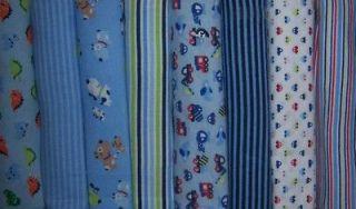 Boys Single Flannel Receiving Blankets, Baby Shower, Diaper Cake
