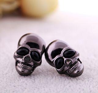 Betsey johnson Cool Black Skull head Earring studs for man and women
