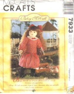 McCalls 7933 Betsy McCall Doll Dress Pattern