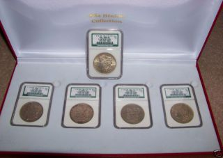 Binion Hoard 5 NGC Slabbed Morgan Silver Dollars From