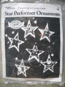 better homes gardens cross stitch star ornaments kit