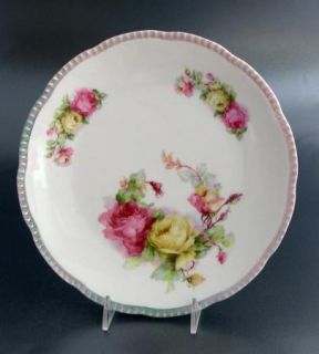Beyer Boch Royal Rudolstadt Roses Porcelain Plate Prussia