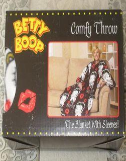 New Betty Boop Fleece Comfy Throw Snuggie Blanket Sleeves Classic