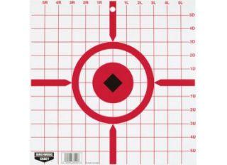 Birchwood Casey Rigid Paper Target 12in Crosshair 10 Pack 74842 37210