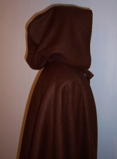 Brown Cape w Hood Bilbo Hobbit Archer 3 Price Options Warm Polar