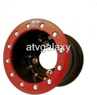 Hiper CF1 Rear Red Beadlock Wheels 8 8x8 3 5 4 110 Suzuki Lt R450 Ltr
