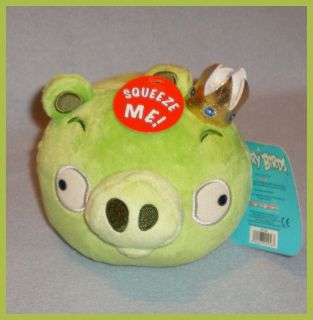 Angry Birds 5 Plush Green Pig King with Sound New