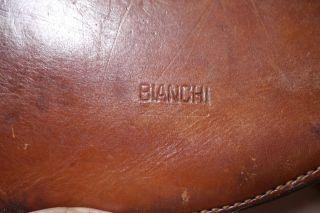 Vintage BIANCHI Thick Leather Saddle ATV Scabbard .44 Handgun Holster