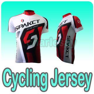 Short Sleeve Cycling Biking Jersey Bicycle Shirt RD 2XL