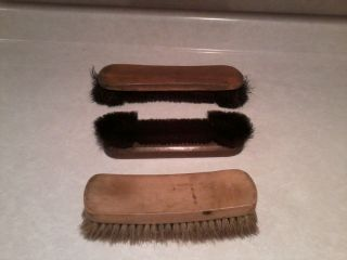 Vintage Pool Table Brushes with Wooden Handles