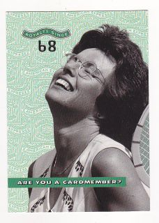 Billie Jean King Post Card 2000 American Express US Open Tennis Ad