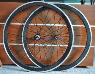 42mm Carbon Alloy Road Bike Clincher Wheels Wheelsets