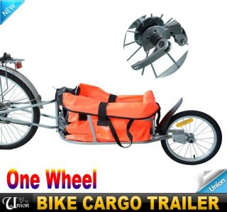 New Foldable One Wheel Steel Bike Bicycle Cargo Trailer Carrier Garden