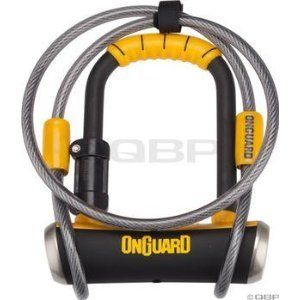 OnGuard Pitbull Mini 8008 DT Bike Bicycle U Lock W CABLE combo