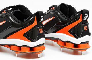 Shox Fuse 2 Mens Metal Baseball Cleats 15 Black Orange Shoes
