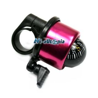 New Compass Bicycle Bike Handlebar Bell Ring Horn Red