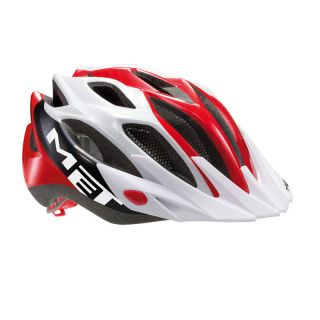 Met Crossover MTB Road Bike Helmet Red Black White Universal Fit 2012