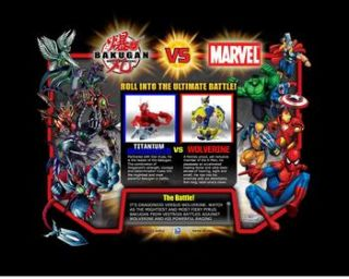 SUPER HOT BAKUGAN VS MARVEL PYRUS TITANIUM DRAGONOID & SUBTERRA BLACK